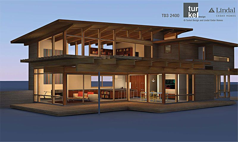 Td3 2400 by turkel designs for lindal cedar homes and the for Dwell houses