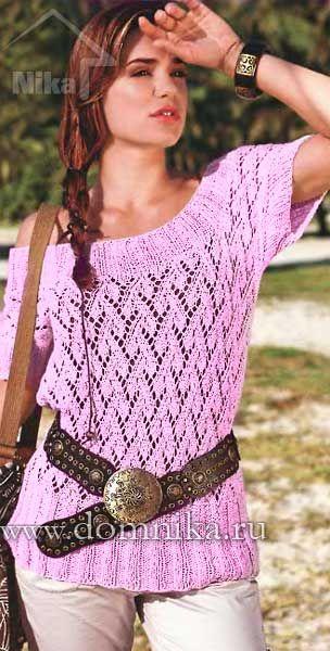 кофточка спицами для женщин на лето джемпера свитера кофты спицами