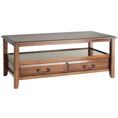 Anywhere Tuscan Brown Coffee Table With Pull Handles My