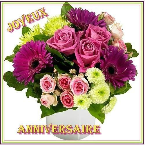 joyeux anniversaire bouquet de fleurs bon anniversaire. Black Bedroom Furniture Sets. Home Design Ideas