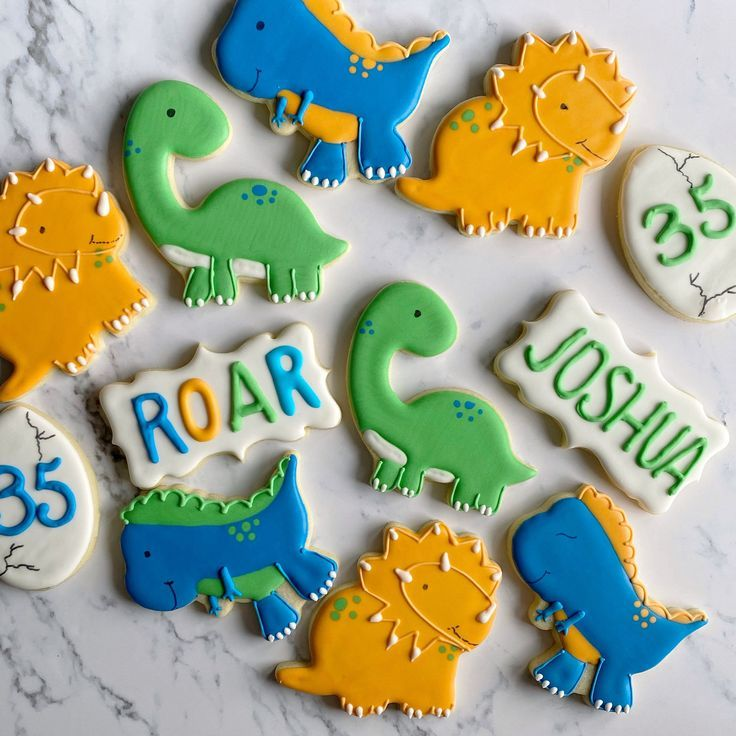 Dinosaur cookies dinosaur birthday sugar cookies dinosaur | Etsy