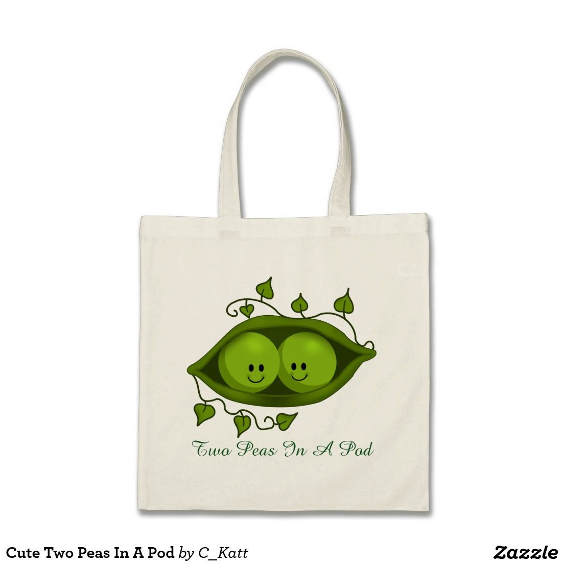 Cute Two Peas In A Pod Tote Bag | Tote bag