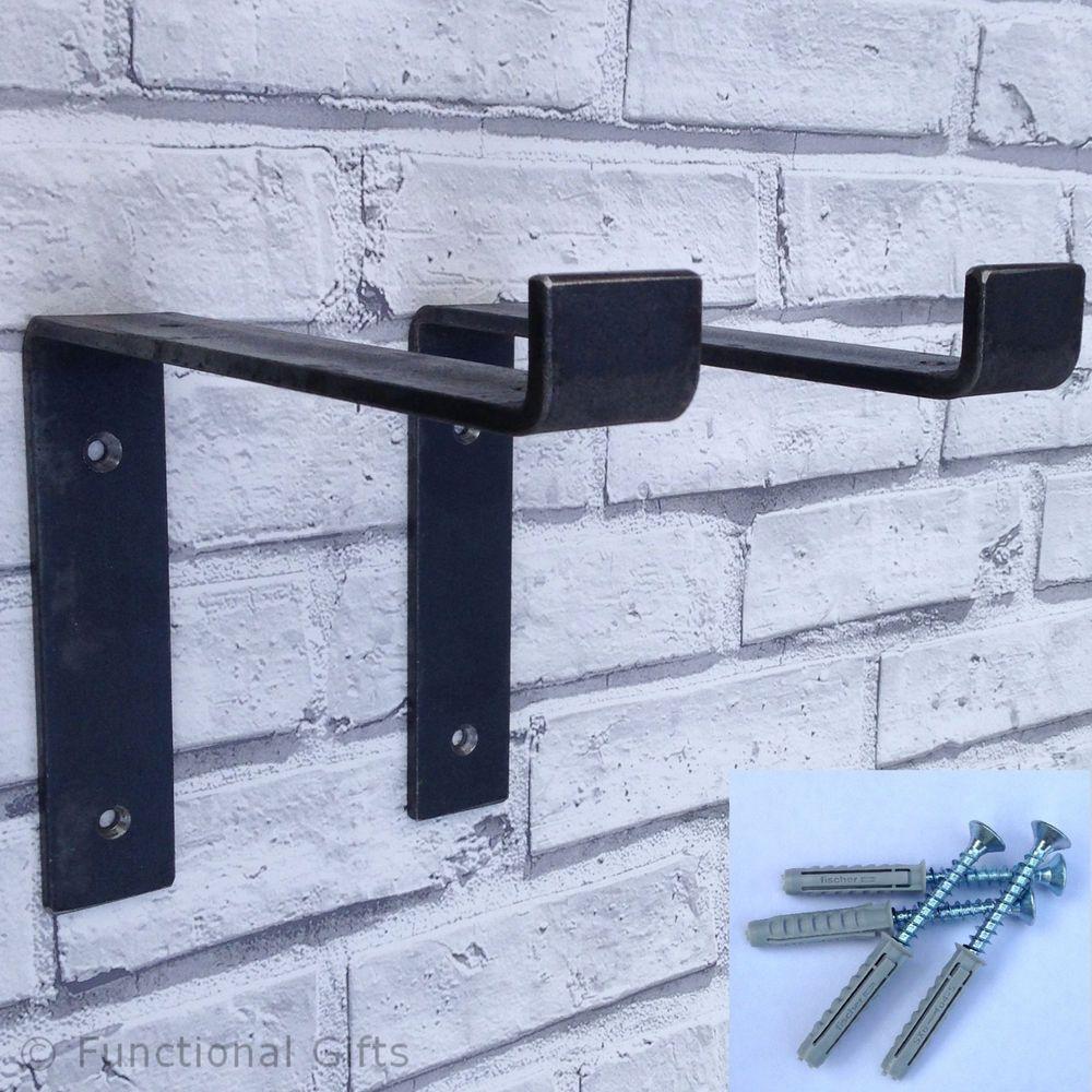 Rusticindustrialhandmadeheavy dutyscaffold board shelf brackets