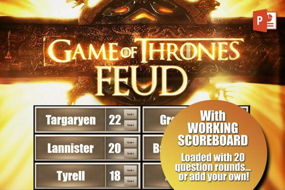 Game of Thrones Family Feud Digital Download Party Game | PC, Mac