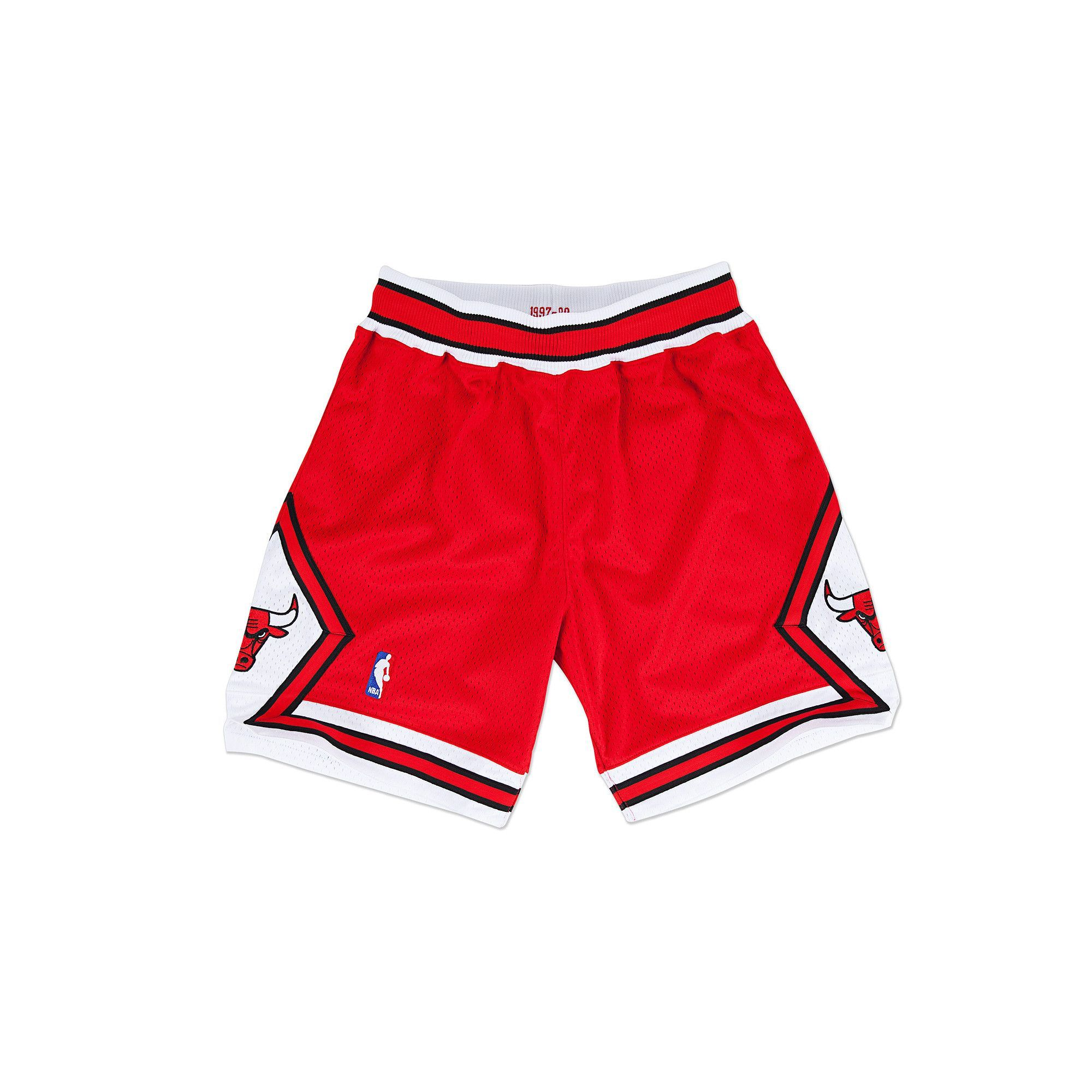 Mitchell   Ness Men s Chicago Bulls Authentic Basketball Shorts- Red ... 67ef377ecdc