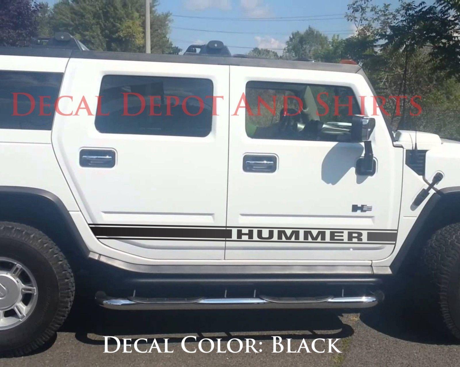 Hummer H3 Or H2 Rocker Side Stripes Vinyl Decals Set Stickers 2x For Both Sides Ebay
