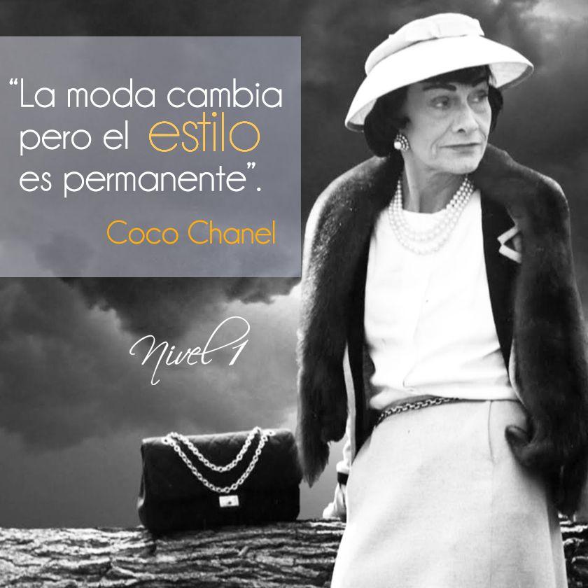 """""""La moda cambia pero el estilo es permanente"""". Coco Chanel #moda #estilo #diseño #altaCostura #CocoChanel #frases #citas"""