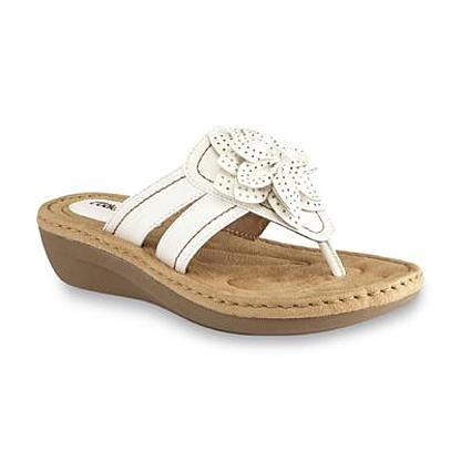 Wide width sandals, White wedges, Sandals