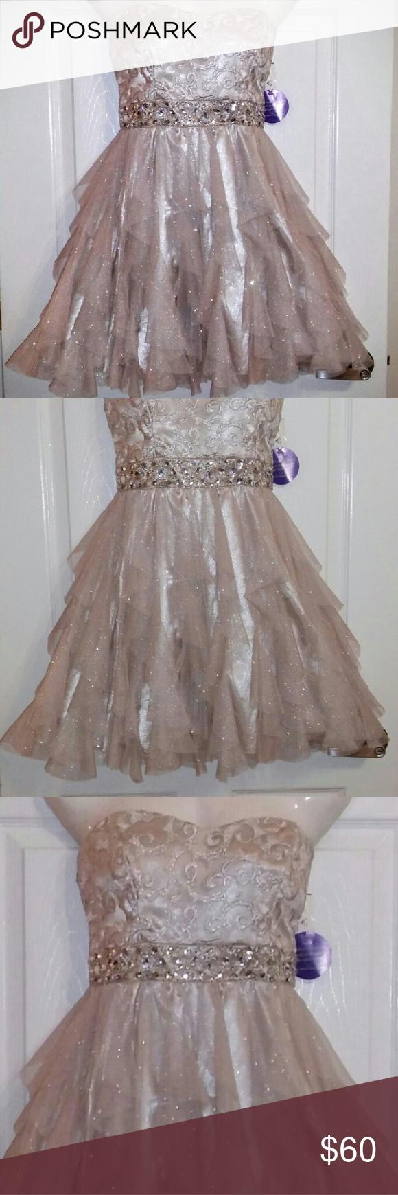B darlin strapless party dress nwt pinterest strapless prom