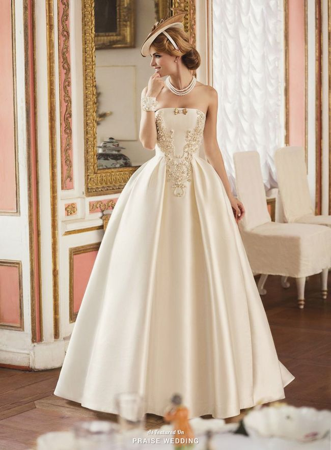 This vintage-inspired gown from Tatiana Kaplun featuring is the ...