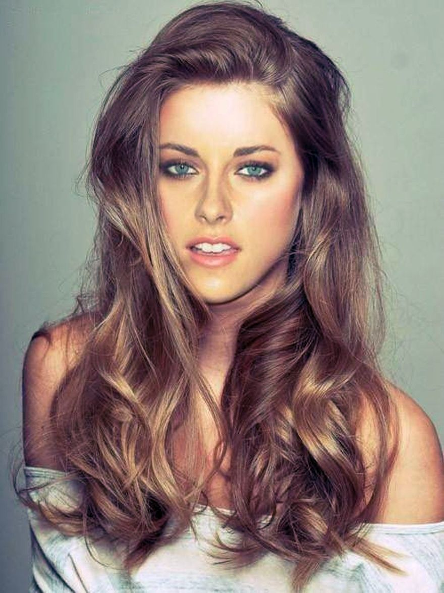 Fashion week Brown Light hair with blue highlights pictures for girls