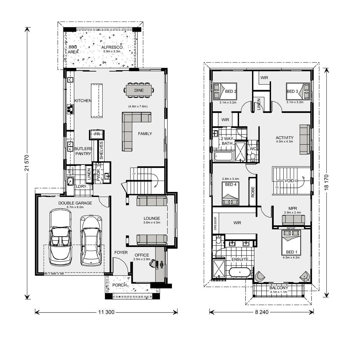 Floor Plan Kingscliff 324 Home Design Floor Plans House Design House Floor Plans