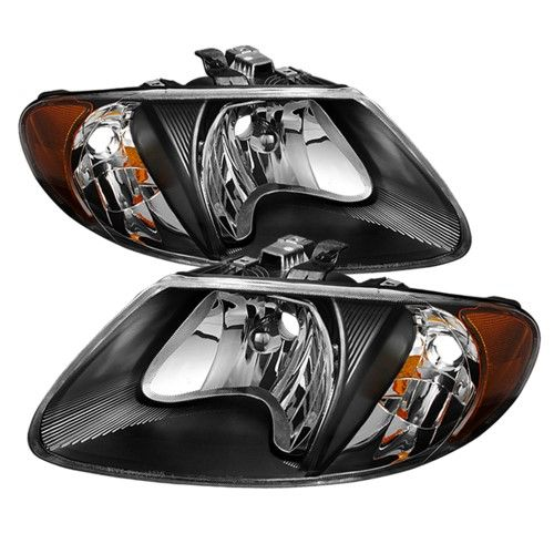 Black 2001 2002 2003 2004 2005 2007 Dodge Caravan Town Country 01 02 03 Voyager Headlights Left Right 2007 Dodge Caravan Custom Cars Town And Country