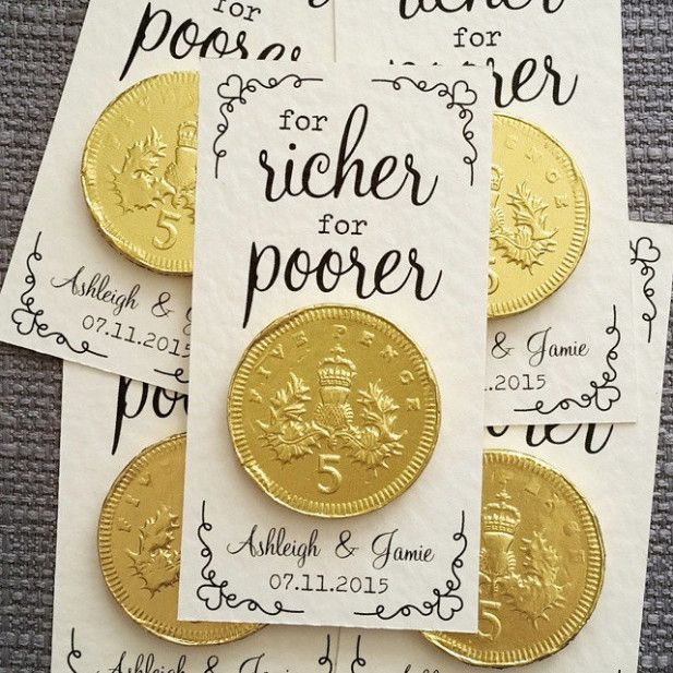 """Wedding Gifts For Invitees: Wedding Invites / Favors""""For Richer Or Poorer"""" Wedding"""