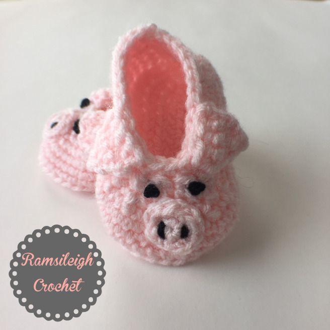 6c0d06332851a Pig Booties {FREE CROCHET PATTERN} | crochet free patterns | Crochet ...