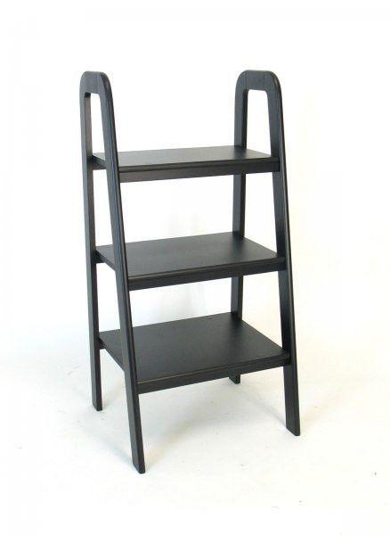 Short Ladder Stand Black 44H X 22W 19D