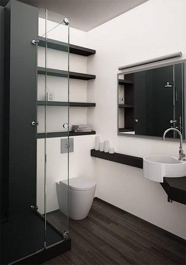 Petite salle de bain design bien agencée