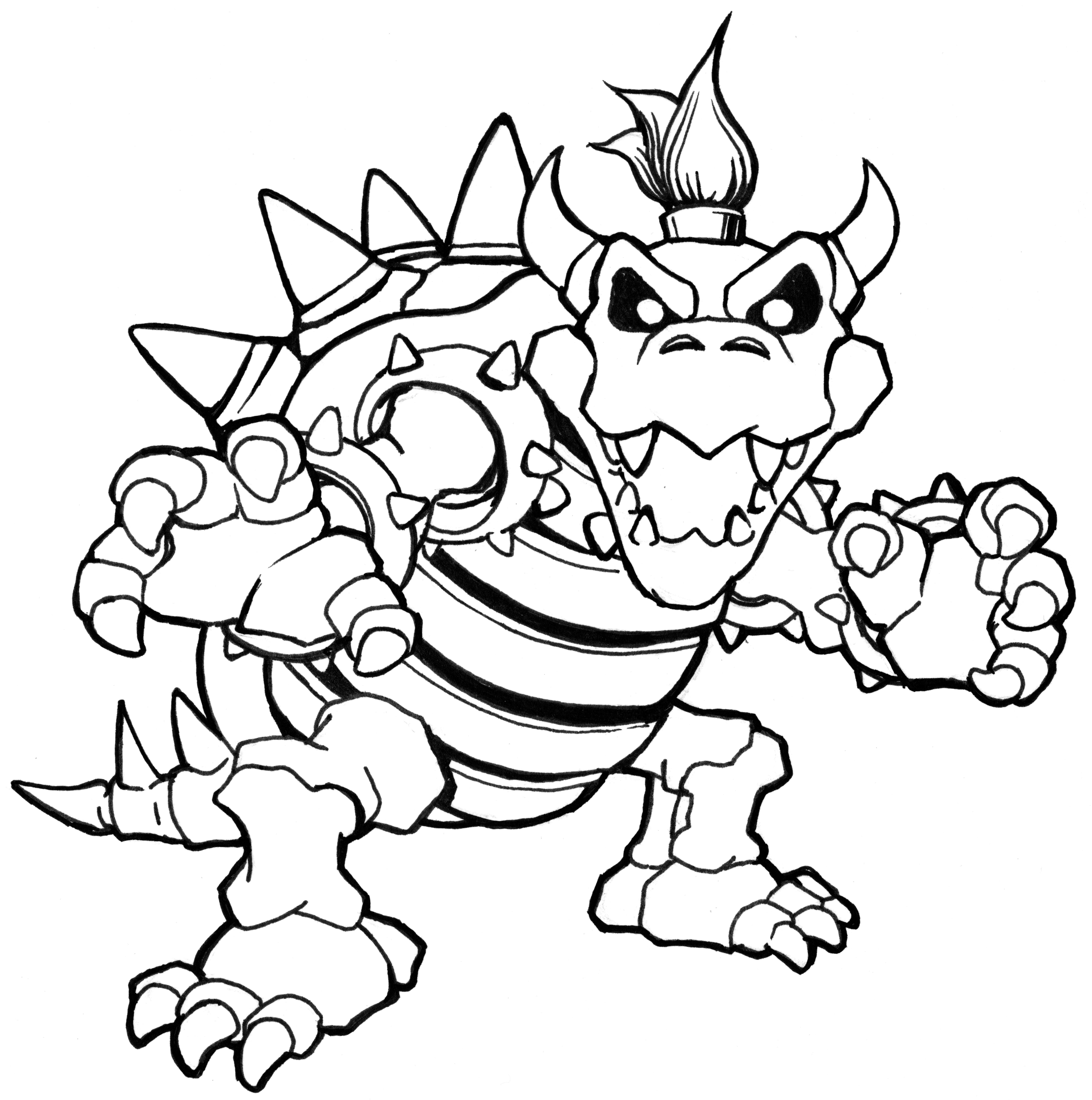 Bowser Coloring Bowser Coloring Pages Bowser Mario Coloriage Image Coloriage Coloriage Chat A Imprimer
