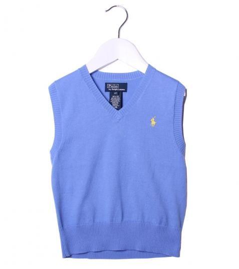 Ralph Lauren Sky Blue V-Neck Sleeveless Vest Top