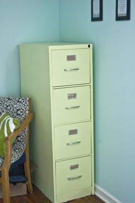 Mint Colored Painted Filing Cabinet Paint My