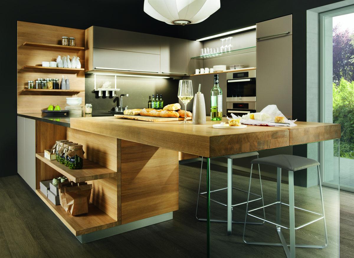 große, moderne vao küche mit bar (mit bildern