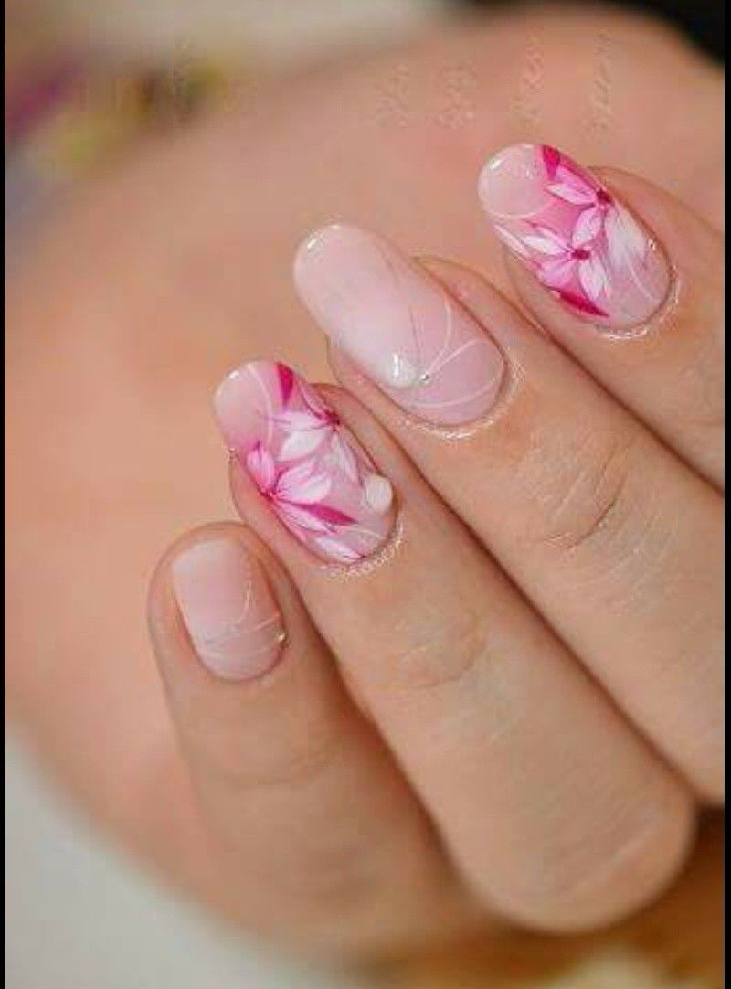 Pin By On Pinterest Flower Nails