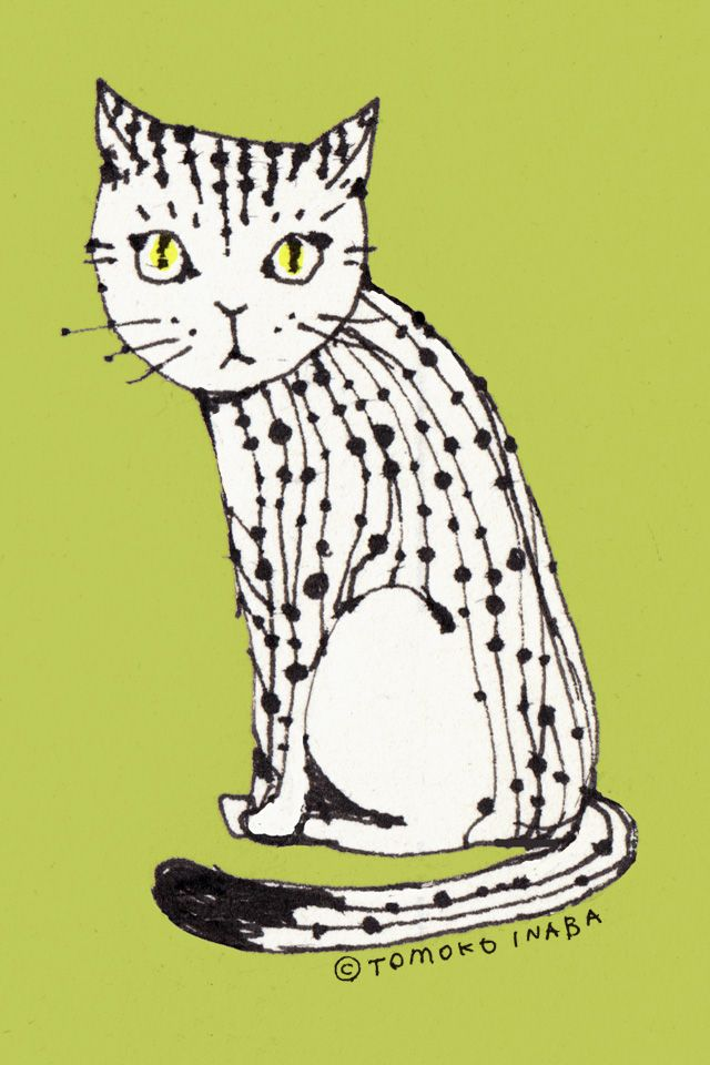 おしゃれ猫 携帯壁紙 Iphone5対応 ネコ イラスト おしゃれ 猫のイラスト ネコ イラスト