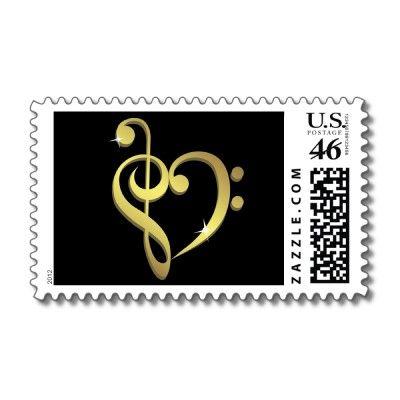 Music love postage