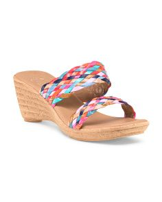 Made In Italy Tina Double Band Wedge | Sandals, Wedges, Shoes