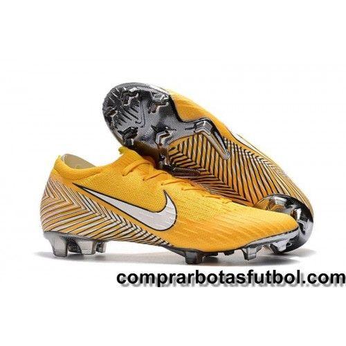 Botas De Futbol Nike Niños Mercurial Vapor XII Elite Neymar FG Amarillo  Blanco Negro visit us 29b1a587b3fb4