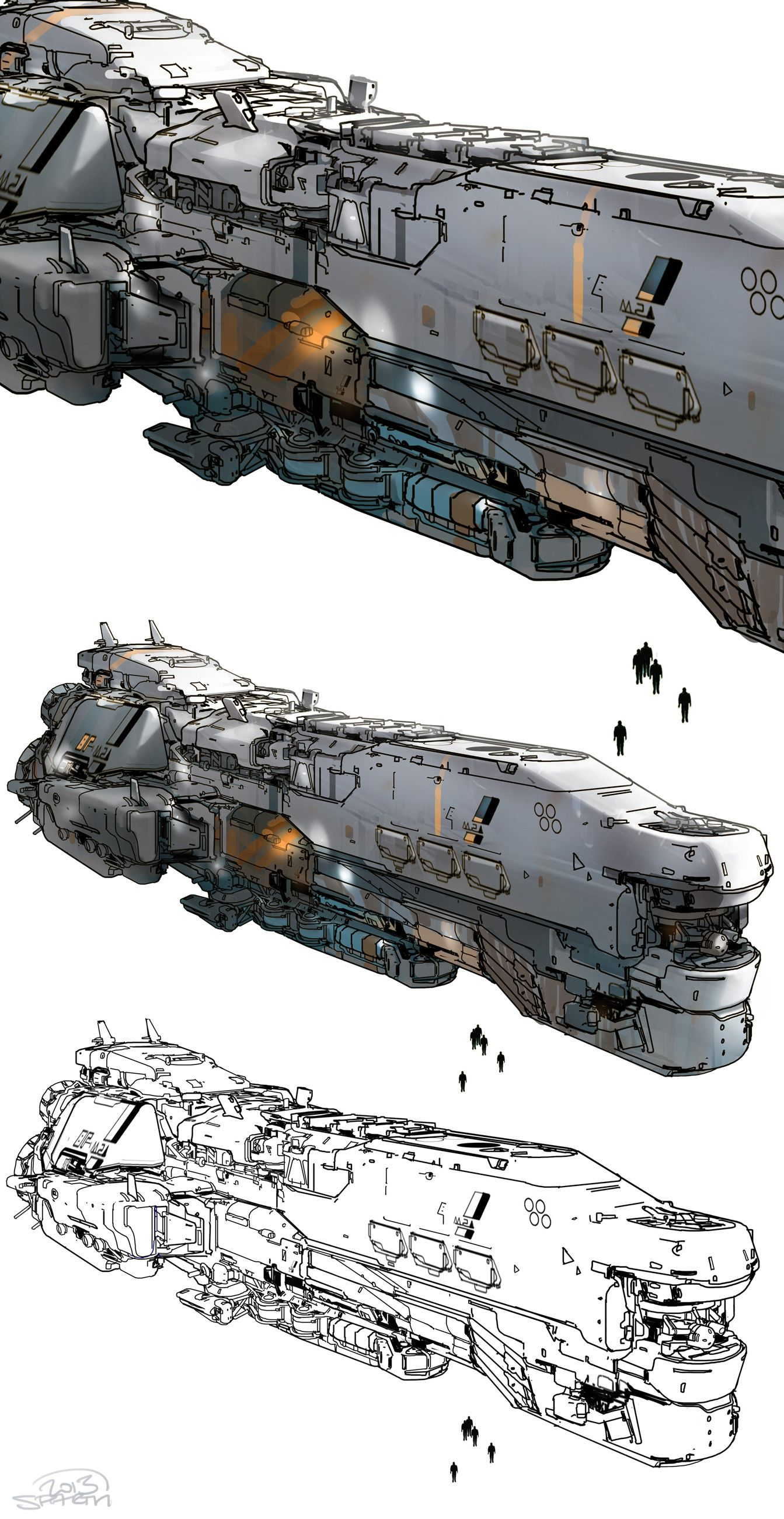 Artstation halo 5 meridian spaceship sparth for 11547 sunshine terrace