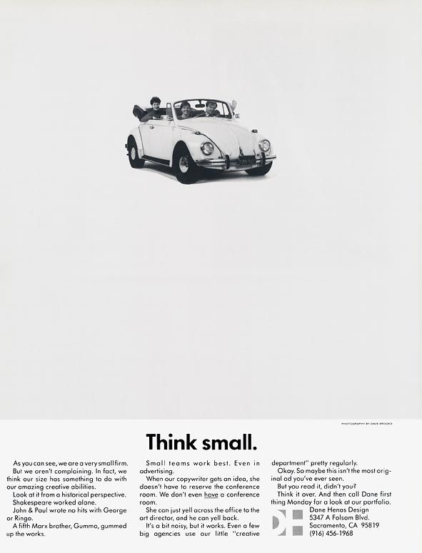 think small ad campaign - Google Search | Think Small VW ...