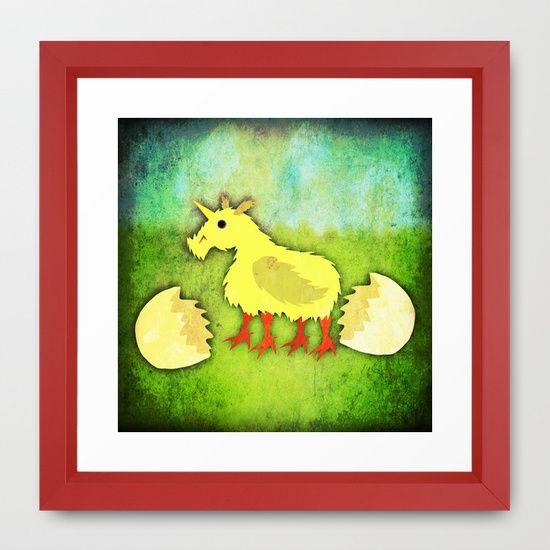 Chickicorn Framed Art Print