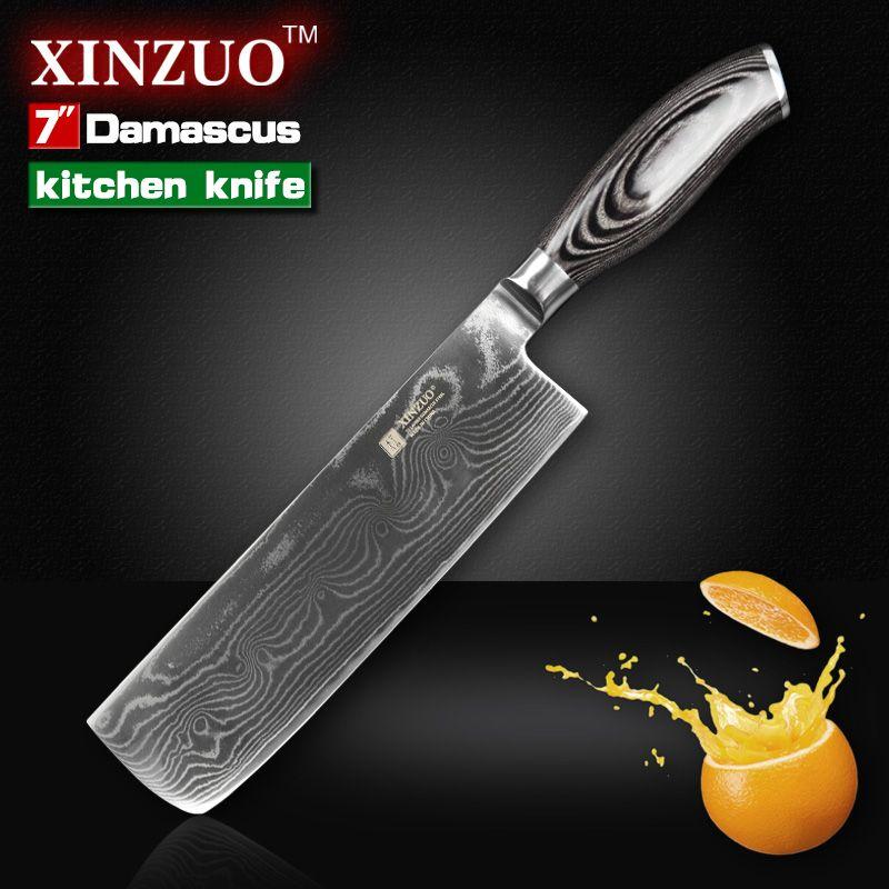 günstige xinzuo 7 zoll küchenmesser 73 schichten vg10 damaskus ... - Küche Beschreibung
