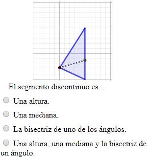 Test Online Altura Mediana Y Bisectriz De Un Angulo Geometria Plana Geometria Matematicas Interactivas