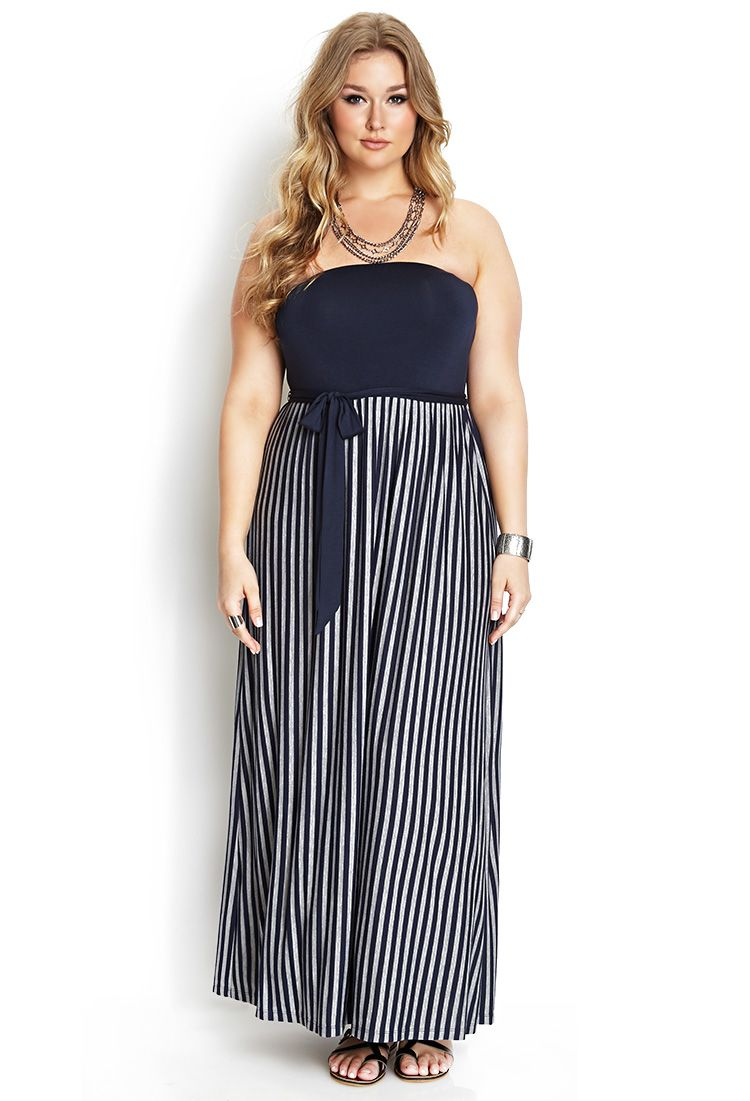 Effortless Striped Maxi Dress | FOREVER21 PLUS  #F21Plus #MaxiDress #Stripes