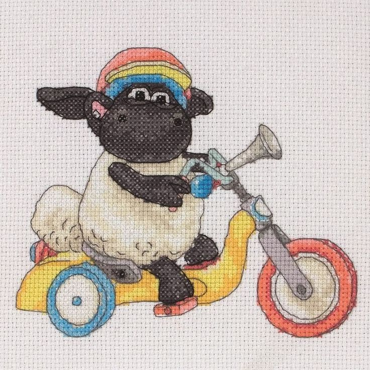 Timmy Time Bike Ride Cross Stitch Kit | Black Sheep Wools | Идеи для ...