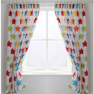Buy Colourmatch Kids Star Curtains 168 X 137cm At Argos