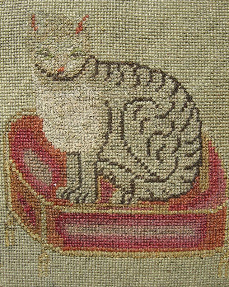 Antique Scottish cat! | Needlepoint patterns, Cross stitch, Cross ...