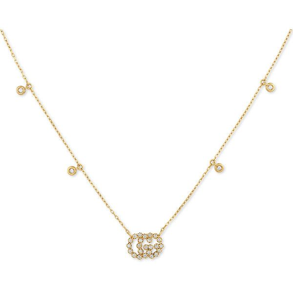 Gucci running g yellow gold diamond station pendant necklace 7825 gucci running g yellow gold diamond station pendant necklace 7825 brl liked on aloadofball Gallery
