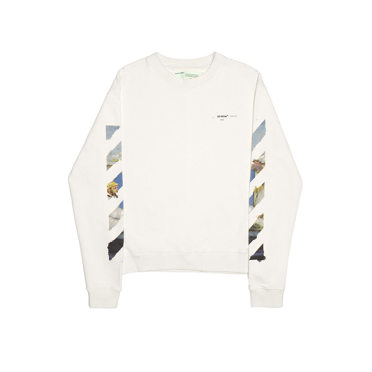 a191880c Diag Colored Arrows sweatshirt from the Pre S/S2019 Off-White c/o Virgil  Abloh collection in white