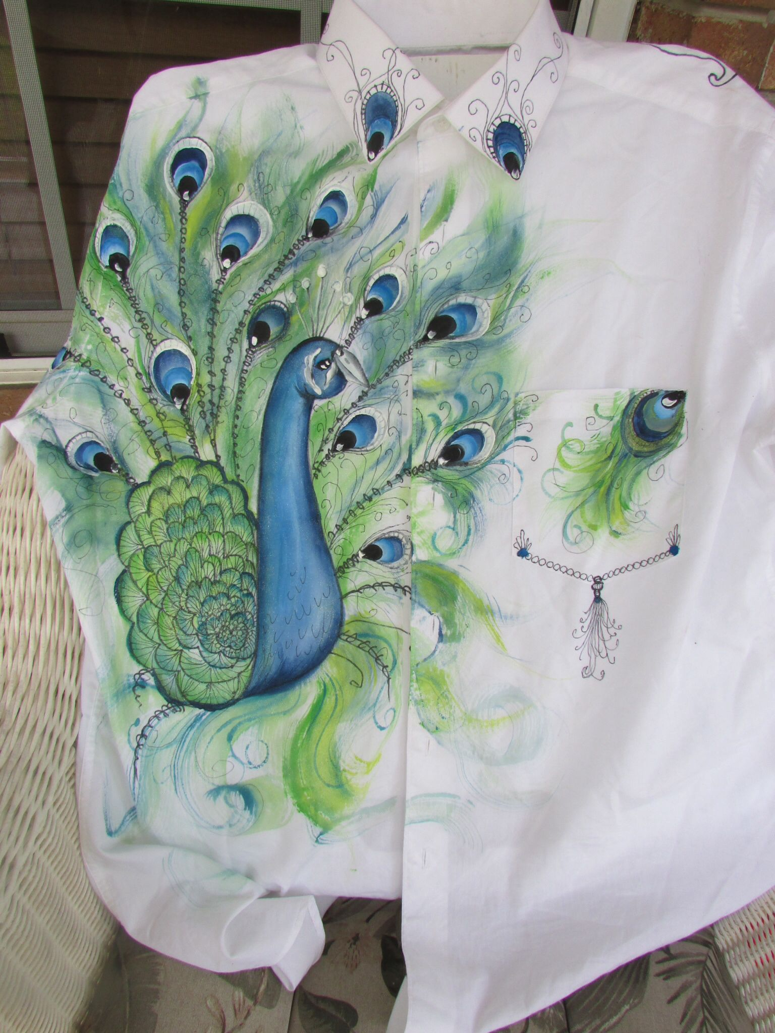 Shirt design with fabric paint - Peacock Packet For Shirt Design An Patterns Www Onestroke Com Painting Patternsfabric