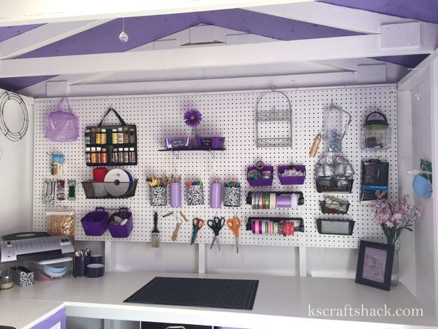 Garden Shed To Craft Studio Shed Interior Craft Shed Craft Room Office