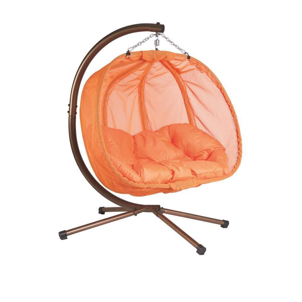 Flowerhouse ft x ft w hanging pumpkin patio swing hammock