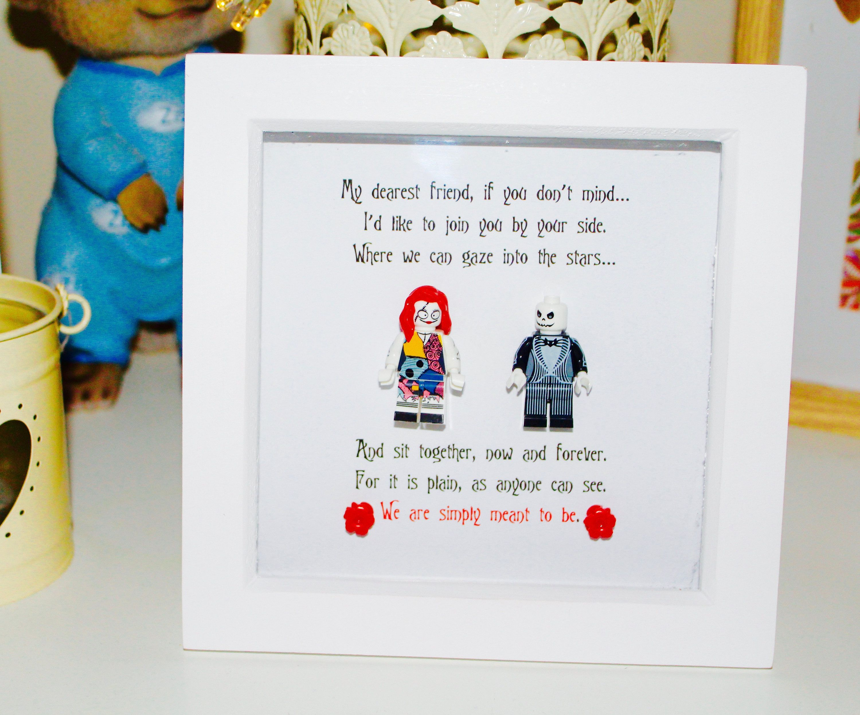 Couples Gift: Jack and Sally Frame. (Valentine\'s Day, Wedding ...