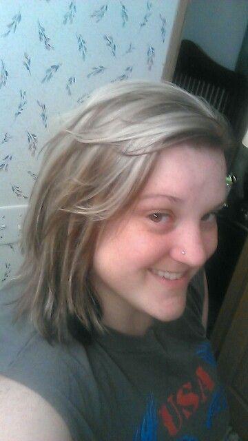 My color, Auburn with Grey highlights
