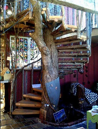 10 Houses Built Around Trees Spiral Staircase Outdoor Building   Spiral Staircase Around Tree Trunk   Stair Case   Nelson Treehouse   Staircase Design   Robert Mcintyre   Canopystair