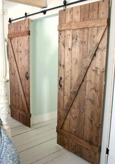 6 id es pour faire soi m me une porte coulissante portes coulissantes faire soi meme et portes. Black Bedroom Furniture Sets. Home Design Ideas