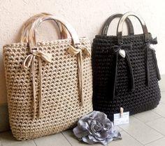 Schicke Häkeltasche aus dickem Garn #crochethooks