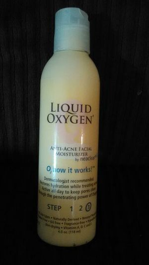 Liquid oxygen moisturizer by nea clear in Zion, IL (sells for $7)